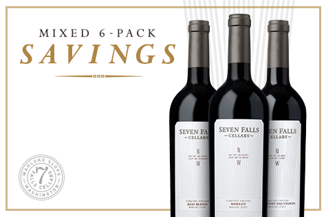 3 bottles of Seven Falls Cellars wines.
