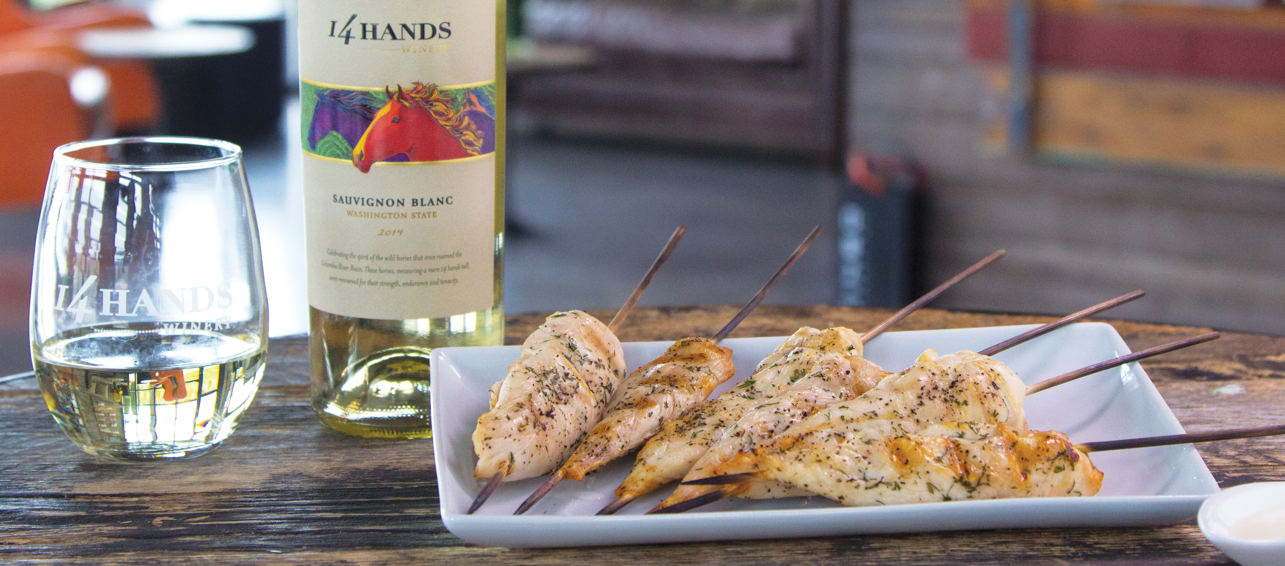 CHILLED CHICKEN SKEWERS WITH CITRUS SAUCE