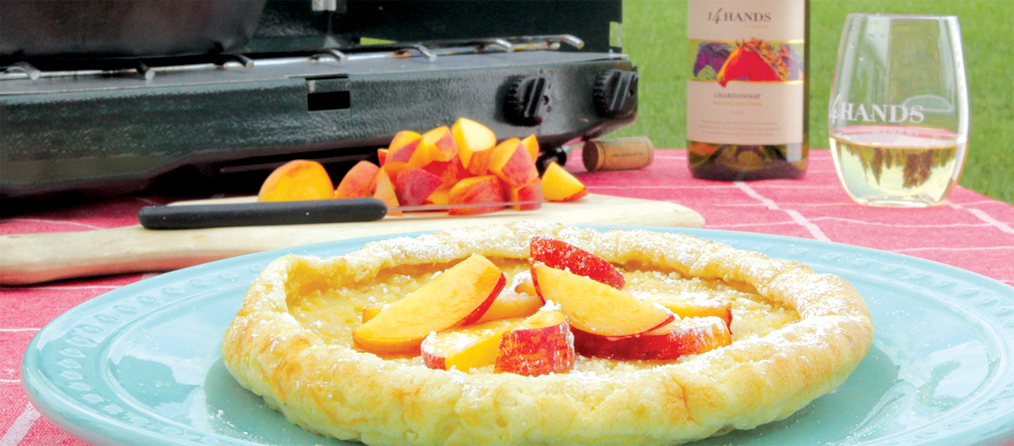 PEACH DUTCH BABY