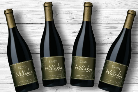 4 bottles of Erath Willakia Pinot Noir
