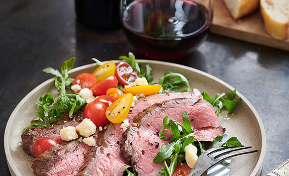 Balsamic Grilled Flank Steak and Arugula Salad