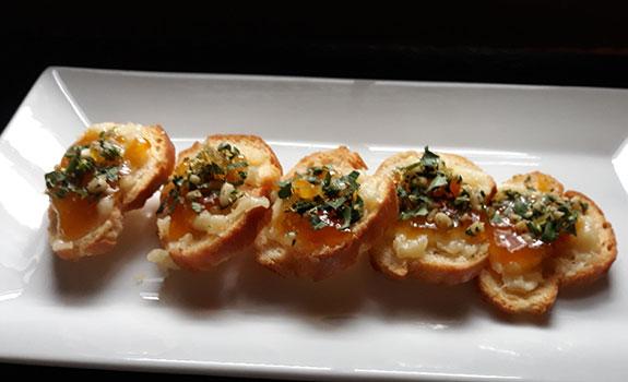 Brie and Apricot Crostini