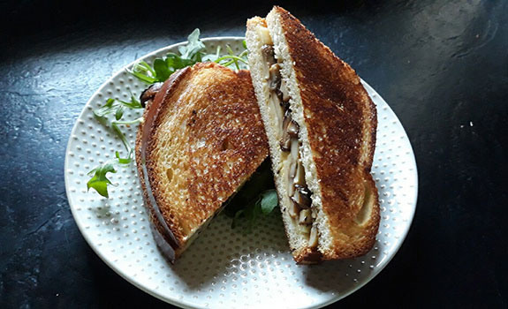 Wild Mushroom and Beecher's Flagship Grilled Cheese Sandwich
