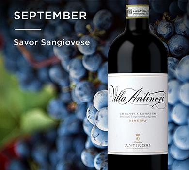 September: Savor Sangiovese