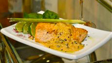 Sesame-Crusted Copper River King Salmon