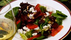 Roasted Beet, Blood Orange and Goat Cheese Salad
