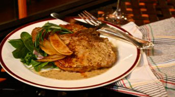 Roasted Pork Chop & Mustard Sauce