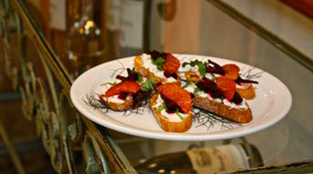Roasted Beet & Blood Orange Crostini