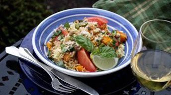 Butternut Squash and Coconut Biryani