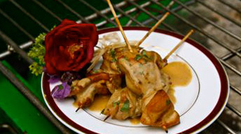 Dijon-Thyme Marinated Chicken Skewers