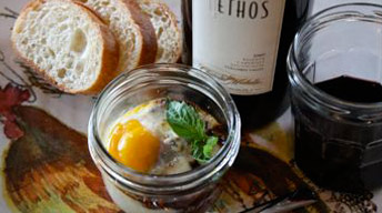 Eggs en Cocotte with Licorice Demi-Glace