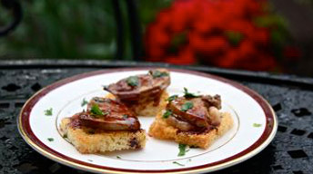 Seared Foie Gras with Port Reduction