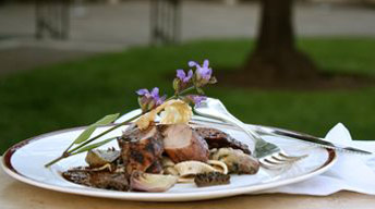 Roasted Pork Loin with Morel Mushroom-Merlot Sauce