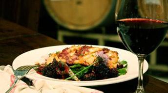 Grilled Salmon with Blackberry Vinaigrette