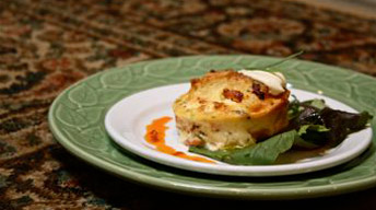 Individual Goat Cheese Souffles