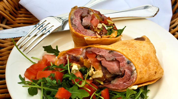 Grilled Balsamic Flank Steak Wrap