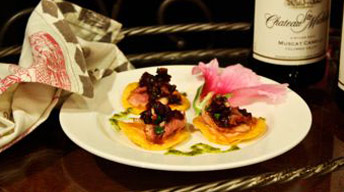 Smoked Duck Tostada with Chukar Cherry Salsa