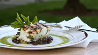Grilled Sea Bass with Sauce Verde