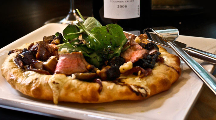 St. Nectaire & Grilled Flank Steak Pizza