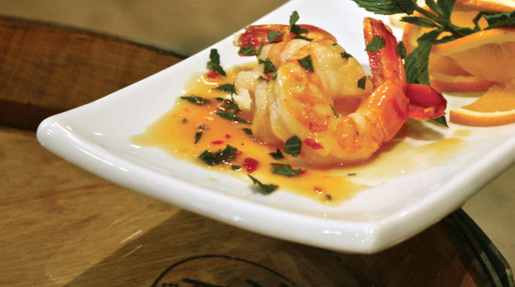 Crispy Shrimp with Citrus Reduction
