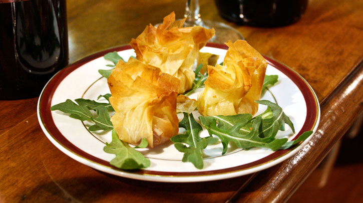 Brie & Quince Phyllo Bundles