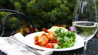 Grilled Prawns with Indian-Spiced Tomato Chutney