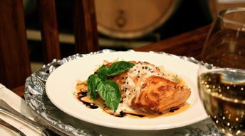 Brown Sugar-Glazed Salmon with Ginger Cream